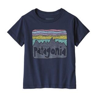 パタゴニア(patagonia)のパタゴニア 新品タグ付き キッズTシャツ 4T Navy(Tシャツ/カットソー)