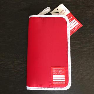 JAL×AEON  パスポートケース  赤  通帳ケースにも