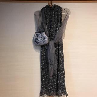 カルバンクライン(Calvin Klein)のパーティードレス&ショール&バッグ(ミディアムドレス)