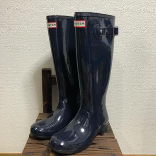ハンター(HUNTER)の新品未使用!! HUNTER ハンター レインブーツ 長靴 US6 23㎝(レインブーツ/長靴)