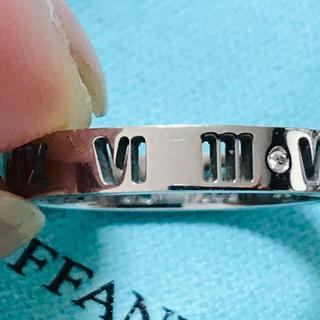 ティファニー(Tiffany & Co.)のTiffany & Co.K18WG ダイヤ4P アトラスリング 美品(リング(指輪))
