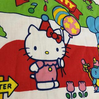 ハローキティ(ハローキティ)の🌜ビンテージ  シーツ🌛ハギレ Hello Kitty 🐱 (生地/糸)