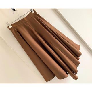 ジルスチュアート(JILLSTUART)のJILLSTUART 16S/Sランダムフレアスカート 18,360円 ブラウン(ロングスカート)