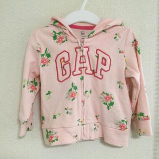 ベビーギャップ(babyGAP)のbabyGAP  耳付きパーカー 6-12m 70 女の子 花柄 薄手(ジャケット/コート)