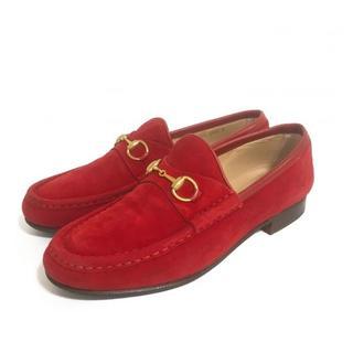 グッチ(Gucci)のヴィンテージ GUCCI グッチ ホースビット スウェードローファー(ローファー/革靴)