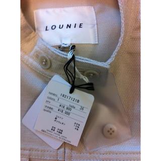 ルーニィ(LOUNIE)の新品LOUNIE半袖ジャケット36(ノーカラージャケット)