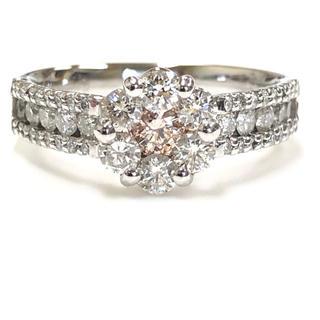 K18 ピンクダイヤモンドリング(リング(指輪))