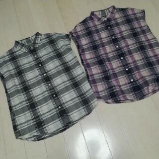 ジーユー(GU)の GUチェック柄シャツ二枚セット最終価格sale(シャツ/ブラウス(半袖/袖なし))