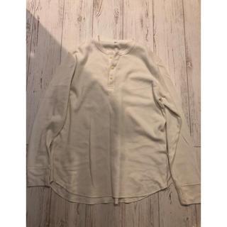 ユニクロ(UNIQLO)のユニクロ ワッフルヘンリーネックT ロンT Tシャツ(Tシャツ/カットソー(七分/長袖))
