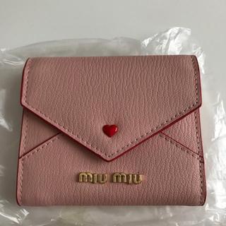 ミュウミュウ(miumiu)のミュウミュウ ラブレターミニ財布(折り財布)