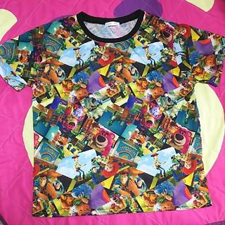トイストーリー(トイ・ストーリー)の美品☆トイストーリー 3L 総柄 Tシャツ(Tシャツ(半袖/袖なし))