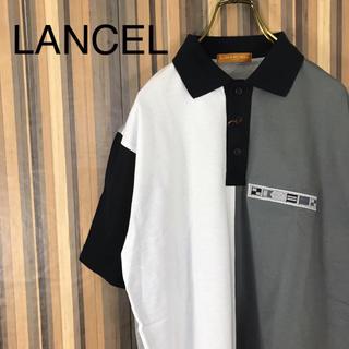 ランセル(LANCEL)のタグ付き 未使用 LANCEL ランセル ポロシャツ バイカラー モノトーン(ポロシャツ)