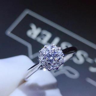 本物保証 リング k18 南アフリカ ダイヤモンド 0.2ct(リング(指輪))