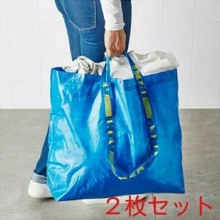 イケア(IKEA)のIKEAエコバッグ、ショッピングバッグ、ランドリーバッグMサイズ2枚(エコバッグ)