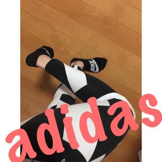 アディダス(adidas)のアディダス♡スパッツレギンス♡黒白♡(レギンス/スパッツ)