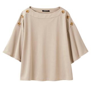 シマムラ(しまむら)の新品 タグ付き しまむら MUMU 肩ボタンプルオーバー(カットソー(半袖/袖なし))