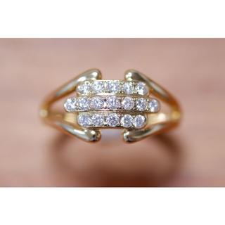 K18 ミキモト ダイヤモンド 0.34ct リング 15号 MIKIMOTO(リング(指輪))