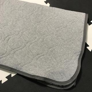 しまむら - 1400→1200 敷きパッド 敷布団シーツ シングル グレー 綿100%