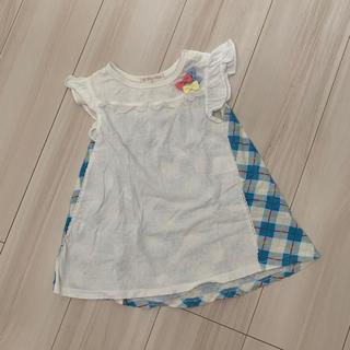 シマムラ(しまむら)のフリルチュニック 90センチ(Tシャツ/カットソー)