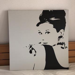 イケア(IKEA)の2枚セット‼️IKEA オードリー・ヘップバーン 絵 アートパネル(その他)