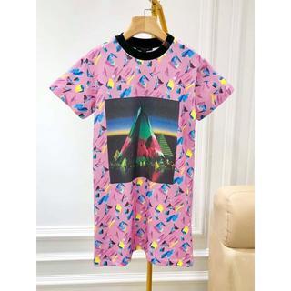 ルイヴィトン(LOUIS VUITTON)のLouis Vuitton 19ss 刺繍入グラデーションプリントドレス(ひざ丈ワンピース)