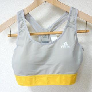 アディダス(adidas)の新品◆(M)adidasグレーM4Tトレーニングミディアムサポートブラ(ベアトップ/チューブトップ)