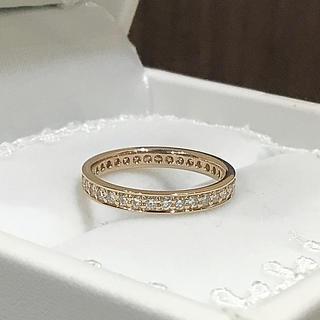 fox様専用☆K18ピンクゴールド フルエタニティ リング(リング(指輪))