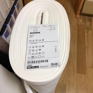 イケア(IKEA)のIKEA  生地  MINNA オフホワイト(生地/糸)