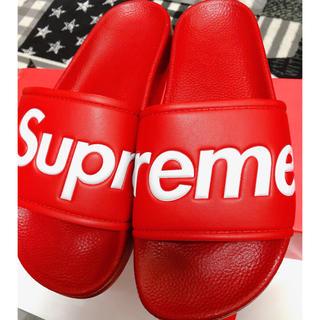 シュプリーム(Supreme)のSupreme Slide Sandals サンダル 赤 Size26cm(サンダル)