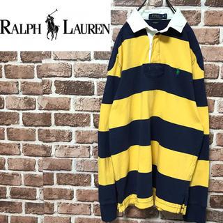 ラルフローレン(Ralph Lauren)の【激レア】ポロラルフローレン 人気カラー太ボーダー 刺繍ロゴ 長袖ラガーシャツ(ポロシャツ)