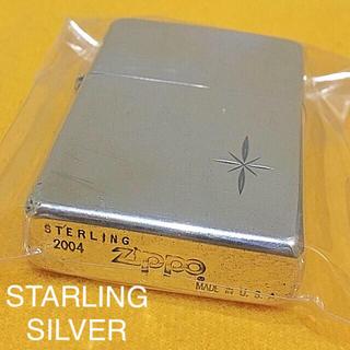 ジッポー(ZIPPO)のZIPPO STERLING SILVER 純銀 十字架 クロス刻印(タバコグッズ)