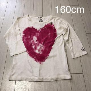 フィス(FITH)の¥3,000で販売します。FITH フィス 160 7部袖 Tシャツ ハート 白(Tシャツ(長袖/七分))