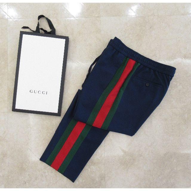 Gucci(グッチ)のグッチ 17AW サイドライン トラック パンツ ジャージ 48 メンズのパンツ(スラックス)の商品写真