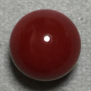 f38 天然 煌 血赤本珊瑚 片穴 7.85 mm3.25 ct 0.65g(リング(指輪))