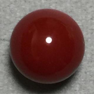 f39 天然 煌 血赤本珊瑚 片穴 7.75 mm3.25 ct 0.65g(リング(指輪))