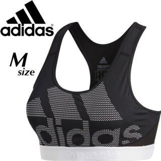 アディダス(adidas)の【定価3553円】adidas ビッグロゴ ブラトップ スポブラ 黒 白 M(ベアトップ/チューブトップ)
