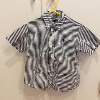 ラルフローレン(Ralph Lauren)の美品 ラルフローレン 半袖シャツ ストライプ 100cm(ブラウス)