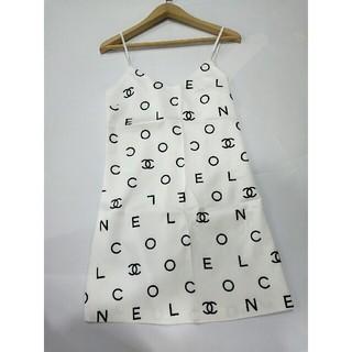シャネル(CHANEL)のChanel シャネル ドレス ワンピース 袖無し ホワイト(ミニワンピース)