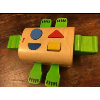 木のおもちゃ クロコダイル(知育玩具)