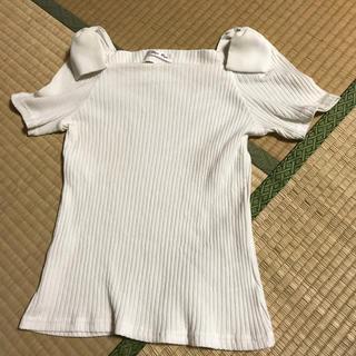 バイバイ(ByeBye)の肩リボン付きTシャツ Mサイズ(Tシャツ(半袖/袖なし))