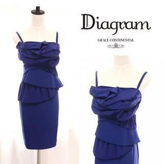 グレースコンチネンタル(GRACE CONTINENTAL)の美品 diagram グレースコンチネンタル ドレス ワンピース (ミディアムドレス)