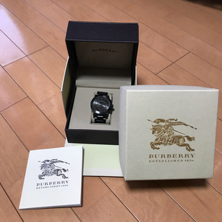 バーバリー(BURBERRY)のバーバリー/BURBERRY 腕時計 BU9354 チタンブラック 黒文字盤  (腕時計(アナログ))