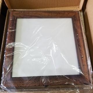額縁 2個セット ブラウン  イタリア製 20×20 AS366   未使用新品(写真額縁)