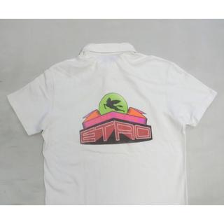 エトロ(ETRO)のETRO エトロ オフ白で背中にロゴプリントが付いた半袖プルオーバーシャツ S(シャツ)