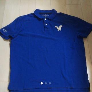 アメリカンイーグル(American Eagle)のアメリカンイーグル ポロシャツ  メンズXL ブルー(ポロシャツ)