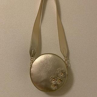 シマムラ(しまむら)の新品 ゴールド ラウンドバック(ショルダーバッグ)