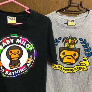 アベイシングエイプ(A BATHING APE)のbape Tシャツ 二枚セット Sサイズ(Tシャツ/カットソー(半袖/袖なし))