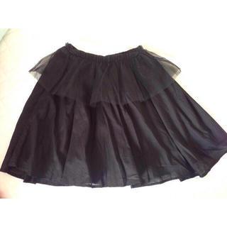 ハニーミーハニー(Honey mi Honey)のHoney mi Honey♡チュールペプラムスカート(ひざ丈スカート)