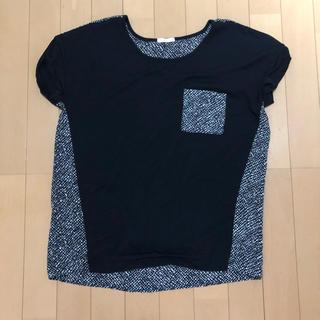 ジーユー(GU)のGU ジーユー ブラウス ツイード 黒  (シャツ/ブラウス(半袖/袖なし))