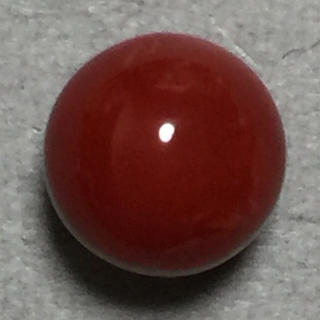 f40 天然 煌 血赤本珊瑚 片穴 7.80mm3.20ct 0.64g(リング(指輪))